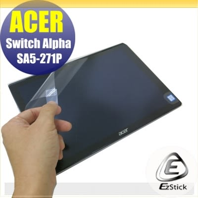 【Ezstick】ACER Switch ALPHA 12 SA5-271 靜電式平板LCD液晶螢幕貼(可選鏡面或霧面)