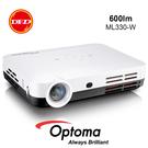 #99節精選# OPTOMA 奧圖碼 ML330 高清微型智慧投影機 白色 升級 600流明 安卓系統 露營用 公貨