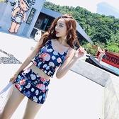 溫泉泳衣女士韓國ins 2020新款保守學生可愛少女分體仙女范游泳衣 草莓妞妞