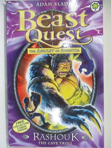 【書寶二手書T8/兒童文學_GJM】Rashouk : the cave troll_by Adam Blade