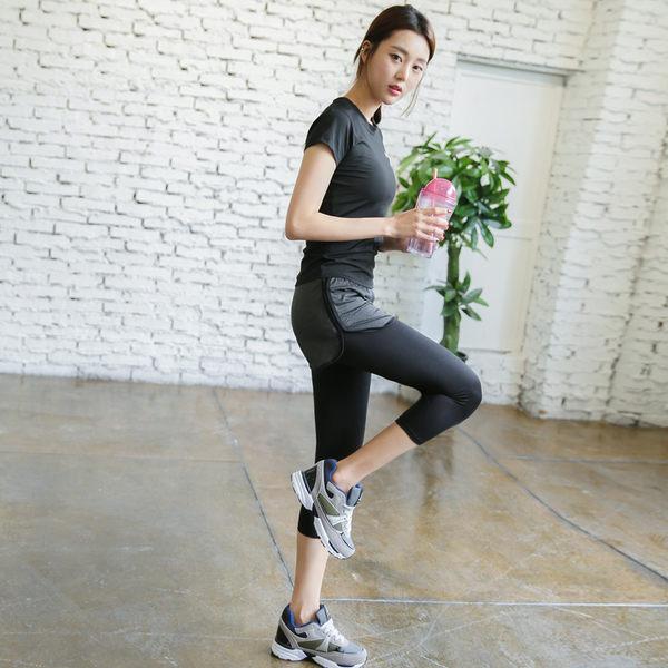韓國新款健身服套裝女夏季顯瘦背心瑜伽服健身房運動跑步服件套 - lxy00102