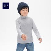 Gap男嬰幼童 舒適長袖高翻領上衣 489420-淺麻灰