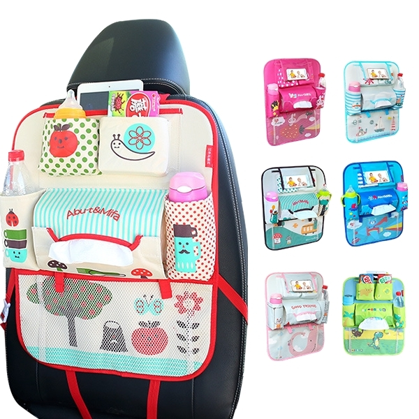 第三代車用椅背收納袋可放手機+平板 置物袋汽車雜物袋-JoyBaby