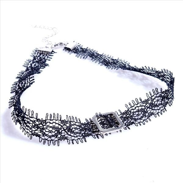 天使衣裳 8330 性感簡約蕾絲項鍊 日韓短款手工頸鍊 飾品 配飾 配件