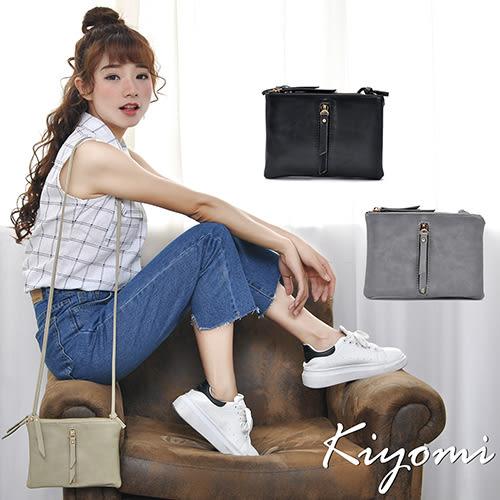 街頭時尚雙層多功能方包-黑色KB069-BK KIYOMI