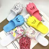 洞洞鞋虎爪子拖鞋情侶卡通個性創意熊掌家居拖鞋夏季男女洞洞鞋沙灘鞋潮 時尚新品
