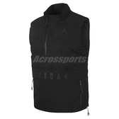 Nike 背心 Iconic 23/7 Tee As 23 Tech Vest 黑 全黑 男款 防風 【PUMP306】 926478-010