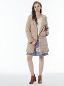 3折出清[H2O]袖口蝴蝶結裝飾一衣多穿式鋪棉外套 - 黑/粉色 #8667005