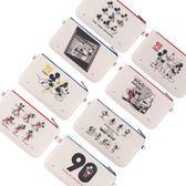Disney迪士尼米奇90週年限定麻布彩繪手機袋/萬用包 ◆86小舖 ◆