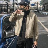 夾克外套 新款韓版潮流修身帥氣麂皮絨衣服個性春秋裝夾克
