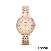 FOSSIL JACQUELINE 簡約不鏽鋼女錶-玫瑰金 36mm