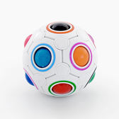 魔術方塊創意減壓球兒童12孔拼色球成人解壓球親子益智游戲上課無聊玩具jy