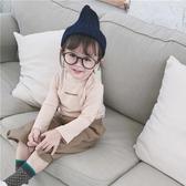 兒童衣服 小女童半高領打底衫秋裝新款童洋氣長袖T恤男兒童棉上衣