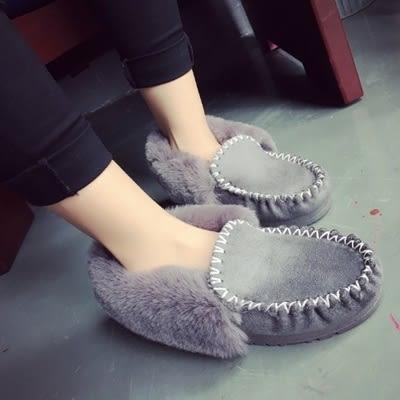 低筒雪靴-時尚潮流保暖豆豆鞋女厚底靴子4色73kg53[巴黎精品]