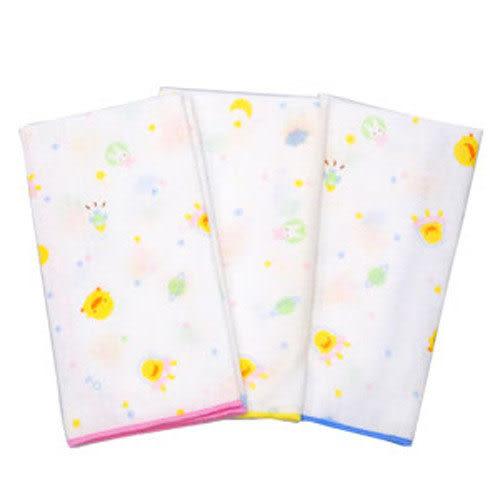 【奇買親子購物網】黃色小鴨紗布手帕(3入)