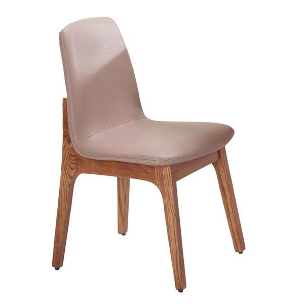 葛麗絲胡桃咖啡皮餐椅(18JF/483-12)/H&D東稻家居
