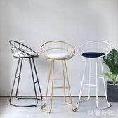 吧檯椅現代簡約高腳凳吧臺凳北歐高腳椅子靠背酒吧凳子zzy3449『美鞋公社』TW