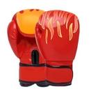 nc-兒童款火焰紅色散打拳套自由搏擊格鬥沙袋男女泰拳專業訓練拳套