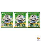 Unicharm 日本消臭大師消臭礦砂綠茶香 5LX3包