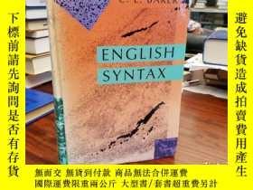 二手書博民逛書店English罕見SyntaxY94537 C. L. Baker The MIT Press; 出版199