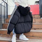 (萬聖節)冬季外套男士學生情侶短款棉襖港風chic韓版面包服潮流帥氣bf棉衣
