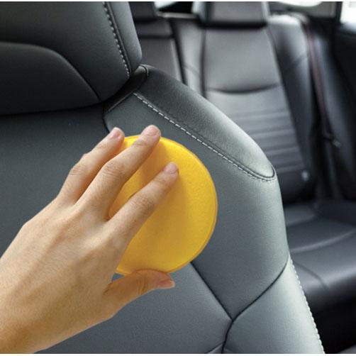 Qmishop 車用打蠟海綿 車用海綿 清潔海綿 洗車海綿 皮革保養 單入【J400】
