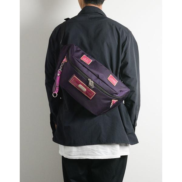 MSPC(master-piece) STRANGE No.02462 [異色異材質拼接復古斜肩包-紫色]
