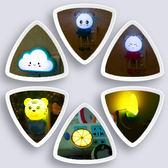 床頭燈 小夜燈床頭臥室嬰兒餵奶LED光控插電創意家用過道夜光節能燈