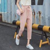 休閒褲七分褲夏2018新款春褲子女學生寬鬆韓版百搭休閒褲超火 伊蒂斯女裝
