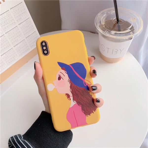 【SZ51】卡通吹泡泡女孩軟殼 iphone xs max手機殼 xr防摔手機殼 iphone 8 plus手機殼 i6s plus 手機殼