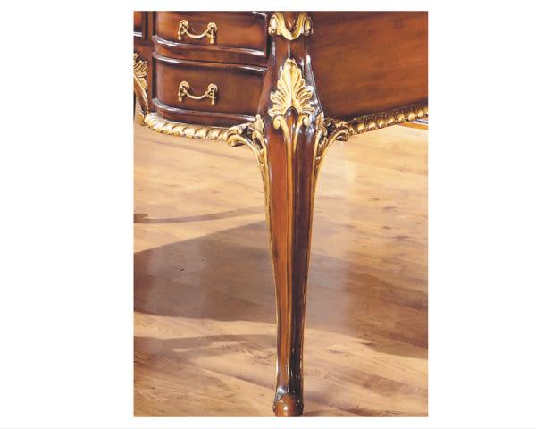 【YUDA】奧爵 4.6尺 法式 胡桃 金邊 辦公桌 J8F  351-1