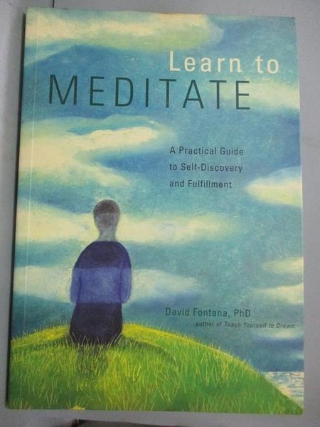 【書寶二手書T8/心靈成長_EIU】Learn to Meditate_David Fontana