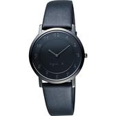agnes b. 法國時尚藝術薄型石英女錶-黑/34mm 7N00-0BC0N(BG4008P1)