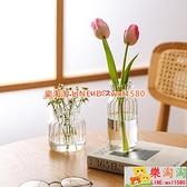 透明玻璃小花瓶擺件客廳插花水養迷你桌面玻璃瓶ins風【樂淘淘】