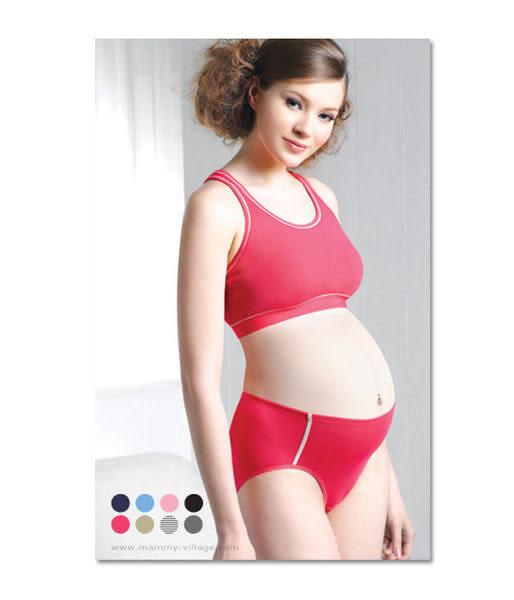 【奇買親子購物網】六甲村 Mammy village舒適低腰孕婦運動內褲