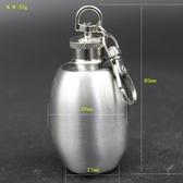 創意酒壇型不銹鋼酒壺迷你2盎司男士隨身小酒瓶便攜密封罐收納瓶 創時代