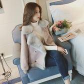 羊羔毛外套女短款冬季新款麂皮絨機車毛絨絨棉衣夾克 雅楓居