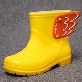雨鞋 兒童雨鞋女童防滑水鞋小孩幼兒園小童雨鞋加絨小學生男童寶寶雨靴