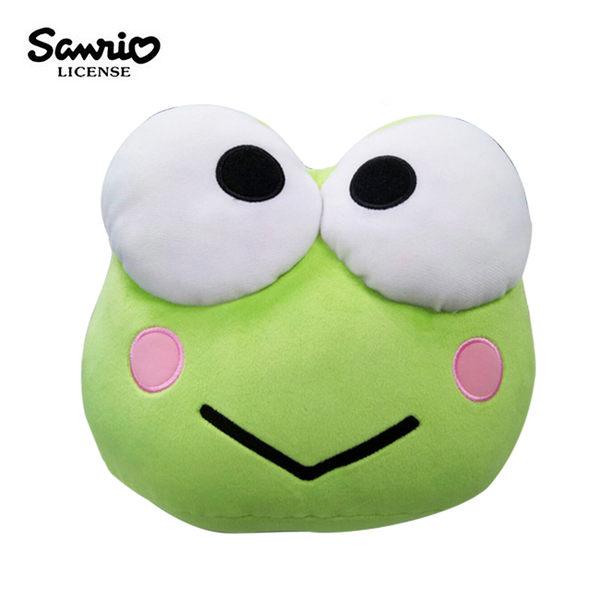 【日本正版】大眼蛙 大頭造型 抱枕 靠墊 絨毛玩偶 三麗鷗 Sanrio - 127379