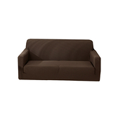 【三房兩廳】加厚防貓抓彈力沙發套3人座(咖啡色)