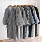 日式純棉紗布浴袍男士大碼和服睡袍春秋夏薄款睡衣系帶浴衣汗蒸服 3C優購