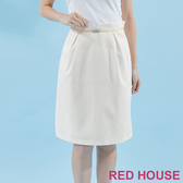 【RED HOUSE 蕾赫斯】素色剪裁A字裙(共三色)