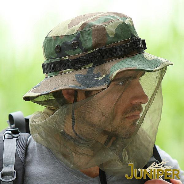 防曬帽子-戶外抗紫外線UV防蚊防蜂大尺寸全罩式迷彩紗網蚊帳帽J7566 JUNIPER朱尼博