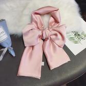 全館85折柔美純色細長條領巾春夏季百搭單色小絲巾99購物節