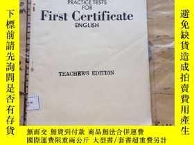 二手書博民逛書店PRACTICE罕見TESTS FOR FIRST CERTIF