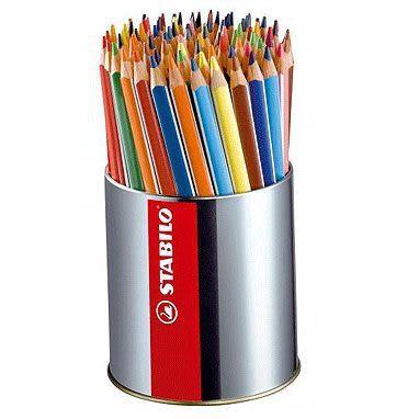 STABILO 色鉛筆 92支裝 Trio thick系列 三角筆身色鉛筆(水性) 筆筒裝 (只有18色共92支裝) 203/92-1