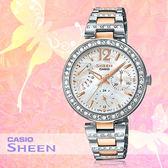 CASIO 手錶專賣店 卡西歐 SHEEN SHE-3043SG-7A 女錶 指針錶 白 施華洛世奇 不鏽鋼錶帶
