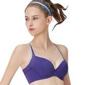 思薇爾-K.K Fit i動洞系列B-F罩軟鋼圈模杯素面運動內衣(絳紫色)