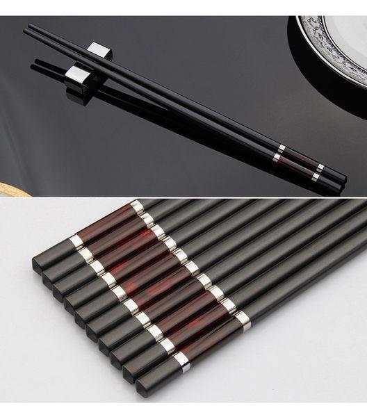 洗碗機專用耐高溫 合金筷 5雙入 (年菜料理 圍爐筷子 適用) B-6500 6501