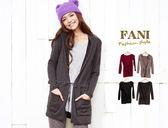 ~方妮FaNi ~ ~雙口袋連帽長版綁帶針織外套~毛衣罩衫辣妹韓國可內搭褲襪發熱衣刷毛T